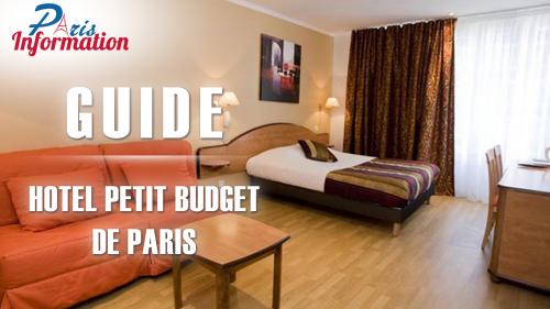 Image Guide Hôtel Petit Budget de Paris